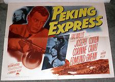 PEKING CHINA EXPRESS orig 1951 22x28 movie poster CORINNE CALVET/JOSEPH COTTEN