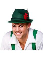 Oktoberfest Mens Ladies German Beer Bavarian Trilby Fedora Hat Adult Fancy Dress