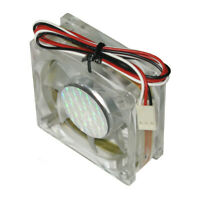 OEM 60 x 60 x 25 mm 12V DC 3-pin Sleeve Bearing CPU Cooling Fan with LED Light