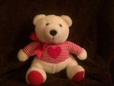 Hallmark Plush Teddy Bear Red White Shirt Plush Toy Stuffed Animal