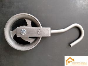 carrucola ghisa mm 140 dispositivo sollevamento edilizia pozzo