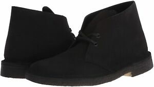 Men's Shoes Clarks DESERT BOOT Lace Up Chukka Boots 55480 BLACK SUEDE