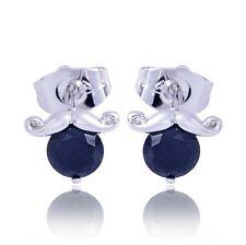 Fashion White Gold Plated Earing Black Onyx Women's Stud Earrings Free Shipping