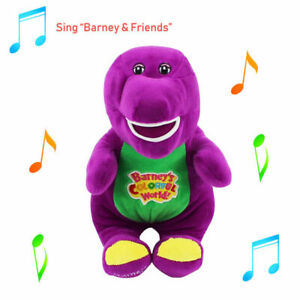 12''Barney The Purple Dinosaur Sing I LOVE YOU Song  Soft Plush Doll Toy Gifts 0