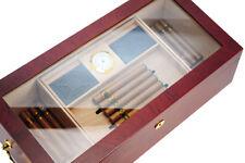 Hand Made 100+ Count Cigar Humidor Box Cabinet Mahogany Humidifier Hygrometer 17