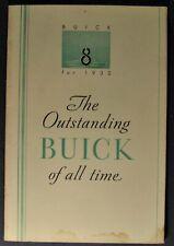 1932 Buick Features Brochure Series 50 60 80 90 Club Sedan Coupe Original 32