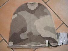 (P40) Feinstrick Mütze FREAKY HEADS Beanie Wintermütze Camouflage mit Logo Flag