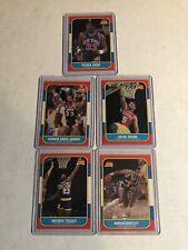 1986 Fleer Basketball 5 Cards Ewing Jabar Irving Dantley Tisdale