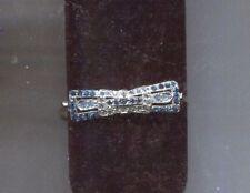 ALEX & ANI silver blue deco style bracelet signed