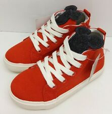 CHILDS NEXT DISNEY MICKEY MOUSE LACE UP RED SHOES - SIZE 7 UK / 24 NEW