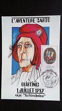 CPM EXPO LA REVOLUTION L'AVENTURE CARTO QUISTINIC 1989 AVEC TIMBRE EDIT. 300 EX