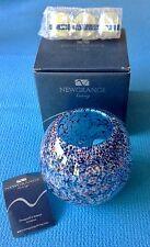 NEWGRANGE LIVING  BLUE & PURPLE BOWL CANLE HOLDER + 3 TEA LIGHTS