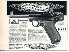 1965 Print Ad of Erma Werke .22 L.R. Pistolen 8 Shot Long Rifle Pistol Gun