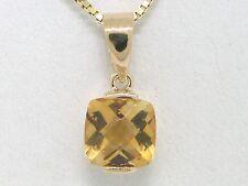 Citrin Anhänger 585 Gelbgold 14Kt Gold mit natürlichem Citrin