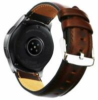 "Samsung Galaxy Watch 46mm Band Genuine Real Leather Crazy Horse 7.5"" - 9"" Bands"