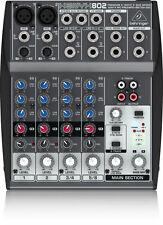 BEHRINGER XENYX 802 Premium Input 2-Bus Mixer w/XENYX Preamps + Full Warranty