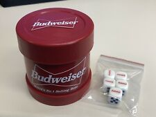 Vintage Budweiser Dice Cup With 5 Dice