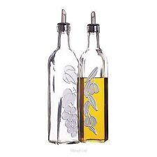 Kitchen Craft Italian Glass Oil & Vinegar Bottle 500ml Cruet Set Spout Pourers
