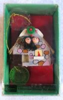 Vintage Sears Christmas Around The World Wood Ireland Irish Ornament EUC w/ Box