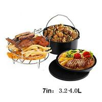 """5Pcs/Set 7"""" Home Air Fryer Pan Accessories Mat For Gowise Phillips Cozyna Baking"""