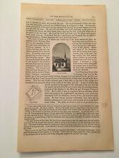 K41) Indian Castle Church Herkimer County New York Revolution 1860 Engraving