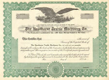 The Hawthorne Textile Machinery Co. > New Jersey stock certificate SPECIMEN