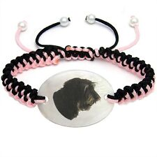 Cao da Serra de Aires Dog Mother of Pearl Adjustable Knot Bracelet BS133