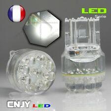 2 AMPOULES CNJY 9 LED RONDE CULOT T20 W21/5W 7443 BLANC HID XENON AUTO 12V