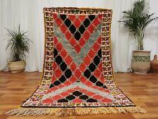 "Moroccan Vintage Handmade rug Bohemian Berber Rug 3'6""x6'6"" Taznakht Boho carpet"