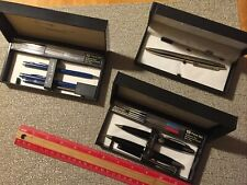 3 Pierre Cardin Silver Pens & Pencil Set in Box & complete with accessories