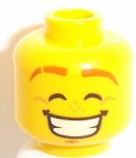 Lego Yellow Dual Sided Head x 1 Huge Smile & Smirk for Minifigure