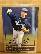 2018 Asheville Tourists Will Gaddis RC Rookie Colorado Rockies Autograph IP