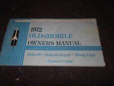 1972 OLDSMOBILE DELTA 88 ROYALE NINETY-EIGHT CUSTOM CRUISER OWNERS MANUAL FACTOR