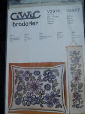 CeWec Broderier Needlepoint Kit NEW Danish Wall Hanging or Pillow  Floral