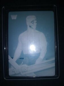 2017 Topps WWE STING Printing Plate 1/1 Cyan WCW Ultra Rare One Of a Kind Stang