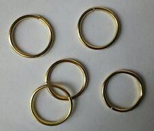 5 GRANDS anneaux plaqués OR pour Médailles, Décorations, taille Ordonnance