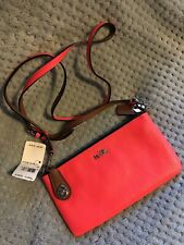 NWT - Coach C.O.A.C.H. Collection Pebbled Leather Harold Crossbody - Neon Pink