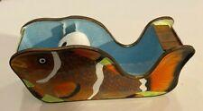 "Vintage Clown Fish Nemo Desk Art Tape Dispenser Enamel Nice! 4.5"""