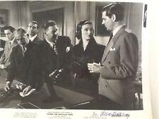 "Gene Tierney SIGNED 8x10 Photo 1950 ""Where The Sidewalk Ends""  Preminger Film"