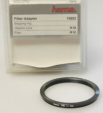 (PRL) HAMA ANELLO ADATTATORE FILTRO M 58 M 52 mm FILTER ADAPTER RING ADAPTERRING