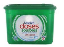lot de 3 paquets complets de 20 doses  Lessive 60 doses , 100% hydrosolubles