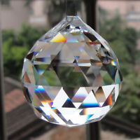 80mm Chandelier Lamp Crystal Ball Prism Hanging Drops Suncatcher Pendant DIY
