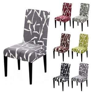 Chair Cover Slipcovers Spandex Elastic Printing Seat Covers Banquet Home Dinning