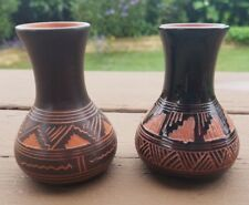 "Lot Set Stunning Native American Pottery A/D J/D Navajo Tribe  3"" Copper Black"