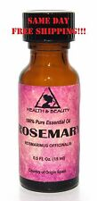 Rosemary Essential Oil Aromatherapy Natural 100% Pure Glass Bottle 0.5 Oz, 15 ml