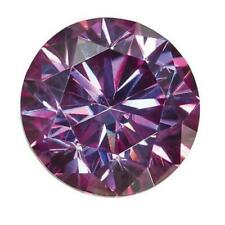 Loose Moissanite 7mm 1.2ct Purple Round Shape Certified USA