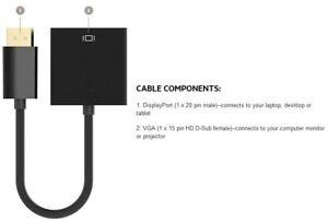 Belkin F2CD032B Displayport-M To Vga-F Adapter Black