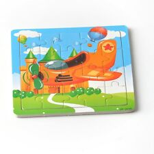 20pcs Airplane Puzzle Jigsaw Toddler Kids Early Learning Toys Baby Educational