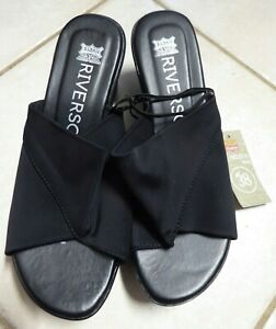 RIVERS WOMENS MED WEDGES BLACK SIZE 38 (AUS 7.5)
