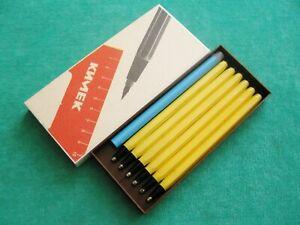 """Vintage Set of Six Mechanical Pencils """"Designer"""" in Original Case USSR 1980's"""
